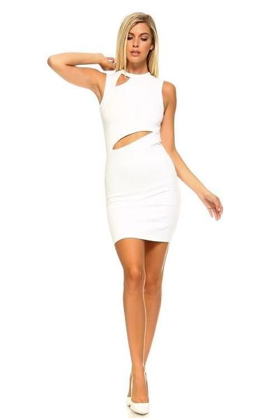 Women's Sleeveless Dress with Slits �'�1040.00
