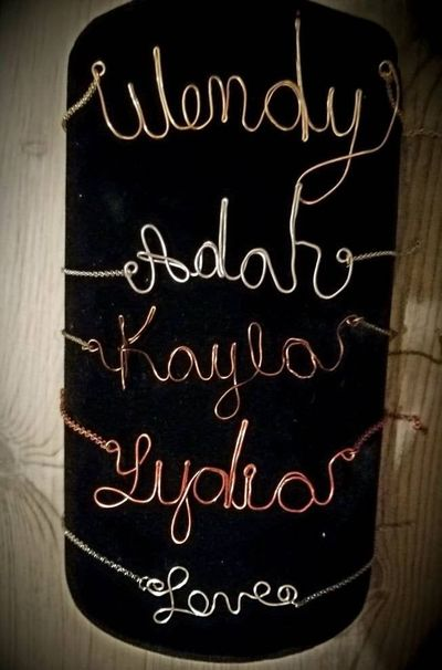 Wire Wrapped Name or Word Necklaces $12.00