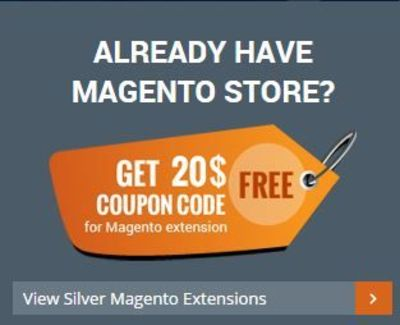 Apply Coupon Code and Get $20 Off on Magento Extensions