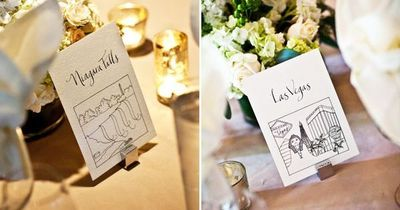 illustrated table cards