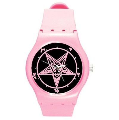 https://www.rebelsmarket.com/products/pink-baphomet-swatch-style-watch-90518