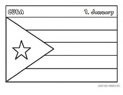 free printable flag of cuba coloring page for kids educatio printable coloring pages for. Black Bedroom Furniture Sets. Home Design Ideas