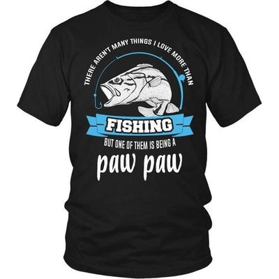 This Paw Paw Loves Fishing T-Shirt, Fishing T-Shirt, Fishing Gifts, Paw Paw T-Shirt, Gift for Pawpaw, Fishing Dad, Fishing Grandfather $20.99