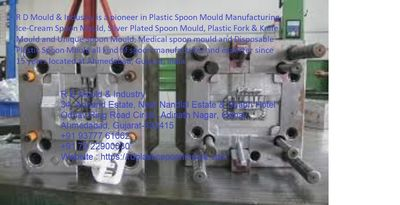 R D Mould & Industry is a leading exporter of plastic spoon Mould manufacturer,Ice-Cream Spoon Mould, Silver Plated Spoon Mould manufacturer, Plastic Fork & Knife Mould and Unique Spoon Mould, and Disposable Plastic Spoon Mould. We have more than ...