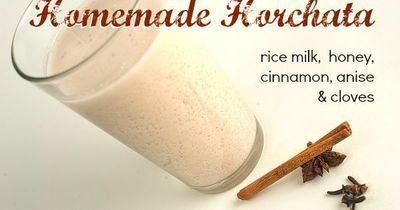 Horchata Recipe: Sweet Mexican Rice Milk made with homemade rice milk, honey, cinnamon, anise, & cloves. Soooo creamy and delicious!