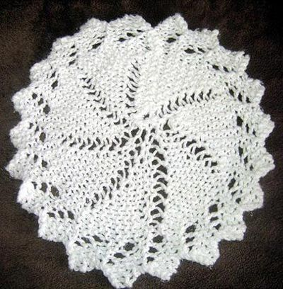 Knitting Pattern For Lace Tablecloth : Lace Circular Cloth Knitting Pattern / knits and kits - Juxtapost