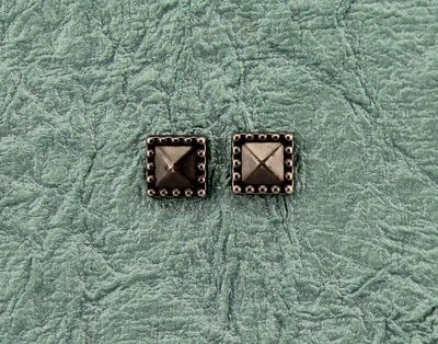 8 mm Square Gunmetal Grey Magnetic Non Pierced Earrings $18.00 Designed by LauraWilson.com