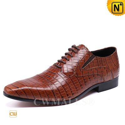 CWMALLS® Wellington Mens Embossed Leather Dress Shoes CW708120 [Patented Product, Global Free Shipping]