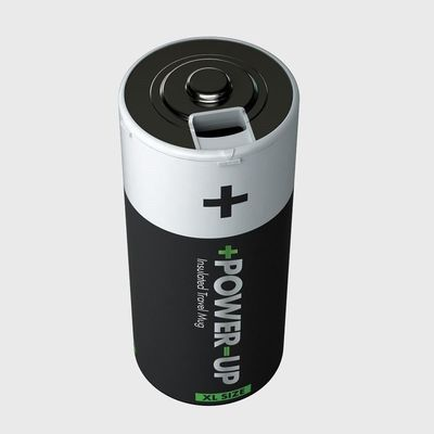 Power Up Battery Shaped Insulated Water Bottle £12.99