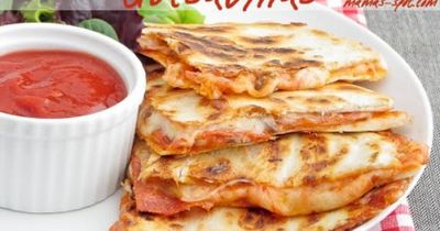 Easy Pepperoni Pizza Quesadillas! Make in less than 30 minutes! Watch out, these will be gone quick!