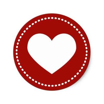 valentines day heart classic round stickers