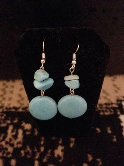 Turquoise Drop Earrings $8.00