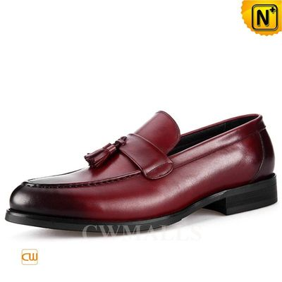 CWMALLS® Men Leather Loafers with Tassel CW716038