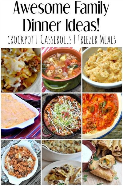 These family dinner ideas will allow you to beat the busy Easy dinner recipes for family of 6