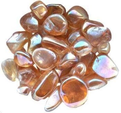 1 Lb Gold Ab Electroplated Tumbled Stones $63.95