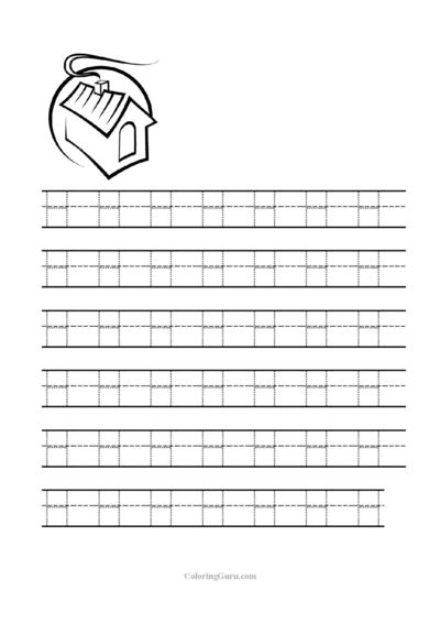 Free Printable Tracing Letter H Worksheets For Preschool Free