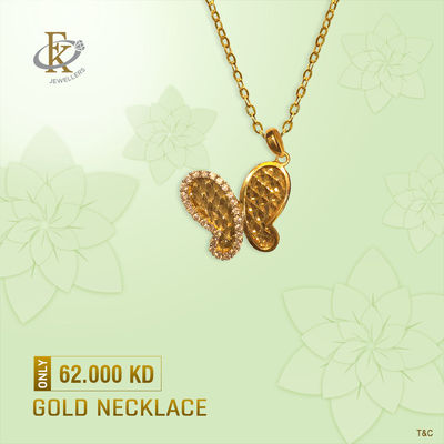 Add a touch of luxury to your favorite looks with this Necklace. �–� Product type: Gold Necklace  �–� Price: 62.000KD �–� Weight: 3.300 Grams (Approx.) �–� Free Delivery �–� Karat: 18 Karat �œ…100%...