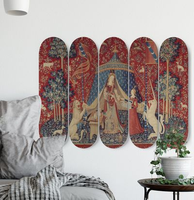 Lady with Unicorn Skateboard Art - Maiden with unicorn Skateboard Art $260.00