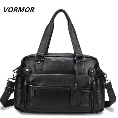 VORMOR PU Leather Bag Business Men Handbags Men's Travel Bags Laptop Briefcase Bag for Man $72.62
