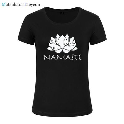 Fashion Women clothing Namaste Print Tee T-shirt Women Top Short Sleeve Female tops clothing t shirt Brand for girls $29.79