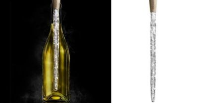 Corkcicle keeps wine at perfect temperature....reusable.