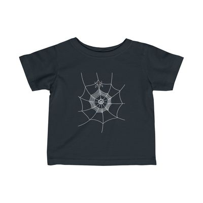 Spider Web Infant Fine Jersey Tee - Front & Back, White Only $25.00
