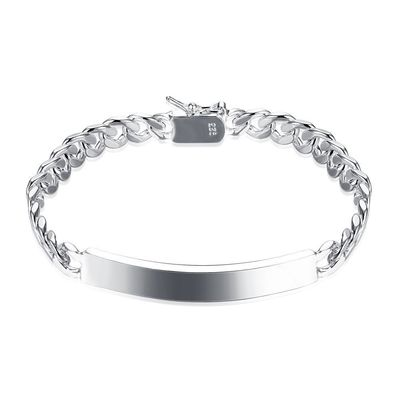 Silver ID-Tag Curb London Bracelet $18.00 Free Shipping