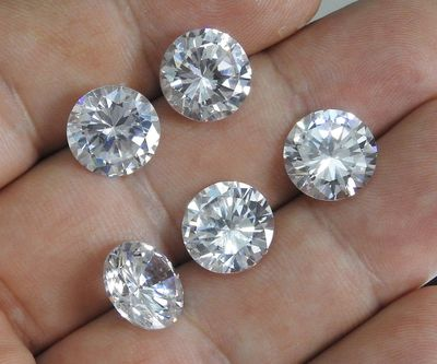 Set stones, Round 12 mm, CZ, 5 stones $27.31