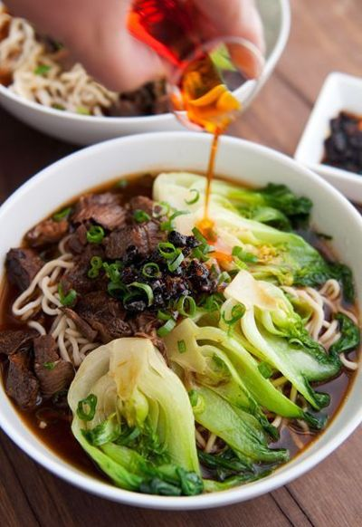 Taiwanese beef noodle soup. / asian dishes - Juxtapost