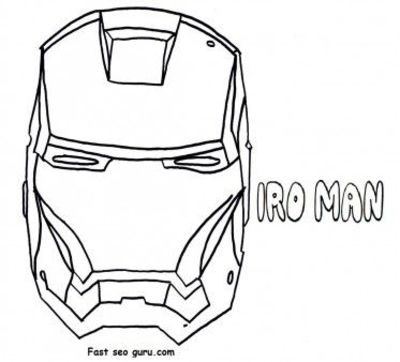 Free Print out superheroes Iron Man Mask Coloring Pages ...