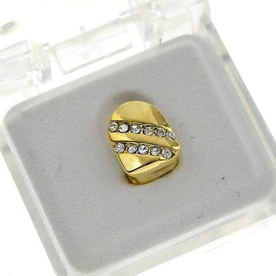 Gold Finish Out Single Cap Backslash Tooth Grillz £14.95