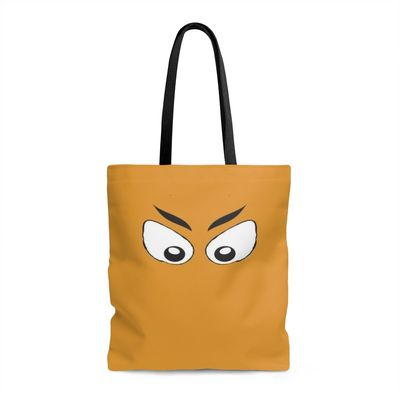 Spooky Eyes in Orange Tote Bag $16.00