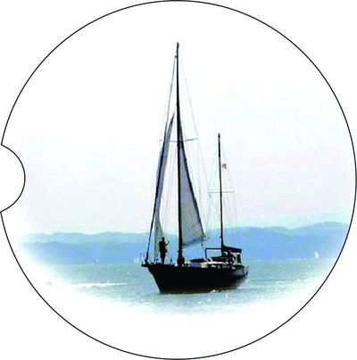 2 Absorbent Car Coasters, Sailboat, Car Accessories for her, Auto Coaster, Coaster, Cup Holder Coaster, Gift For Her, For Him $14.00