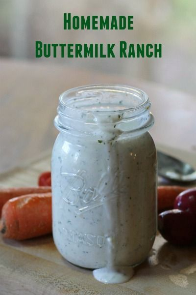 Easy Homemade Buttermilk Ranch Dressing! Save money with ...