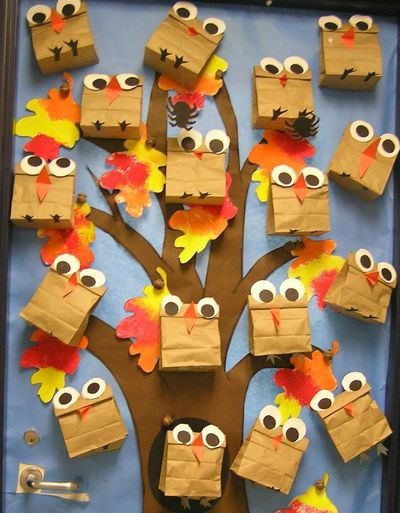Owl classroom theme ideas these cute little owls covered - Decoration halloween a fabriquer ...