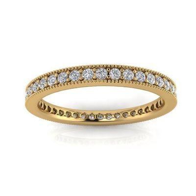 Certified-diamonds eternity band in 18 karat white/yellow Gold and platinum $823.00