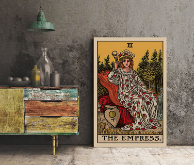 The Empress - Tarot Card Print - The Empress Card Poster, No Frame $20.00