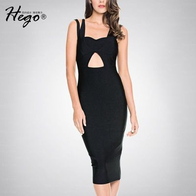 Night Club Sexy Open Back Slimming V-neck Fall Formal Wear Strappy Top Dress Basics - Bonny YZOZO Boutique Store