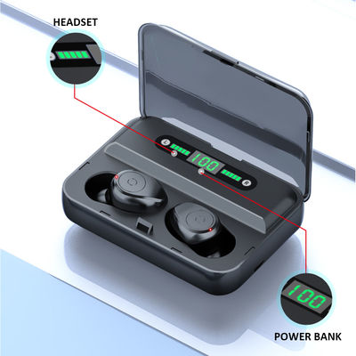 Wireless Headset TWS bluetooth 5.0 Earphone Bilateral Call Touch Control LED Power Display With Charging Box