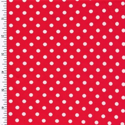 Mini Poco Dot Tricot-white-red Printed Spandex kr719.00