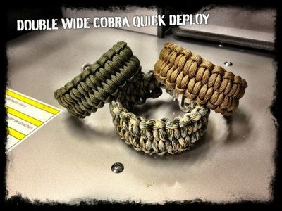 How to make a paracord quick deploy bracelet with the blaze bar