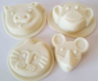 Vegetarian baby soap 3 oz bars, white, essential oils, light scent, no color added. $6.00