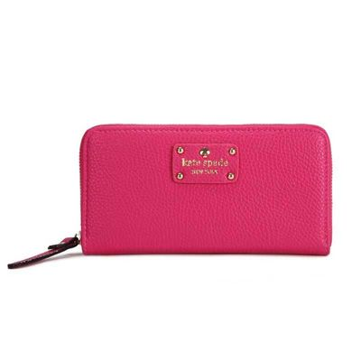 Kate Spade Wellesley Neda Zip Around Wallet Deep Pink katespadebags.com