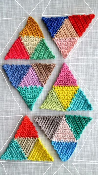 Geometric crochet pattern stitch together to make a vibrant geometric crochet pattern stitch together to make a vibrant bed throw or cosy blanket dt1010fo