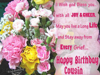 Happy Birthday Cousin Cards Wallpapers
