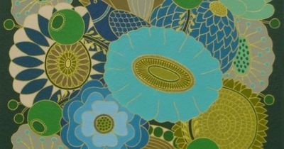 Mary O'Malley: Blue Bouquet   Gardens & Bouquets Series   Gouache and ink on paper mounted on board   2014