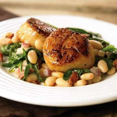 Healthy scallops and beans from Womens Health