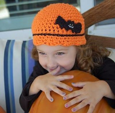 Free Crochet Hat Patterns For Halloween : Louies Loops: All Treat, No trick Halloween Cap - free ...
