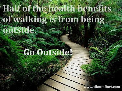 Being outside is good for your health and also leads to more activity.