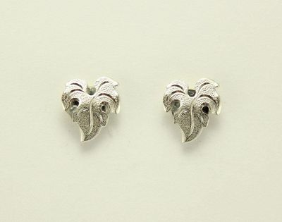 Magnetic 3 Lobed Non Pierced Clip Silver Leaf Earrings $20.00 Designed by LauraWilson.com